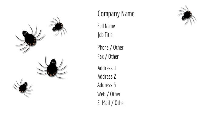 Spiders Business Card Template